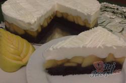 Příprava receptu Výborný jablečný koláč se sněhovou peřinkou, krok 13