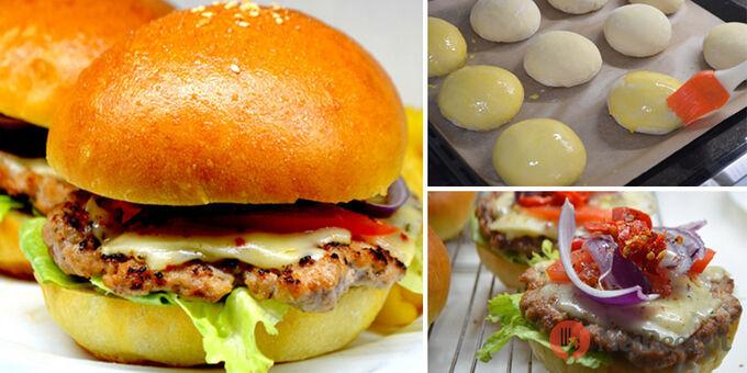 Recept Domácí hamburgery (nejlepší hamburgerové housky)