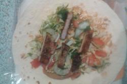 Příprava receptu Tortilly plněné zeleninou a vepřovým masem, krok 4