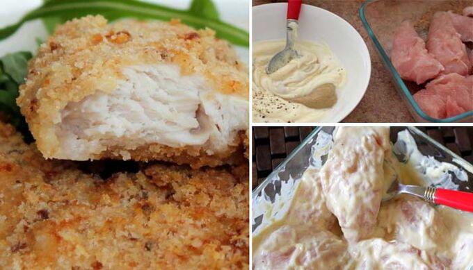 Recept Jemné a šťavnaté masíčko - zapékaná kuřecí prsa