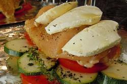 Příprava receptu Kuřecí prsa s mozzarellou a zeleninou v alobalu, krok 2