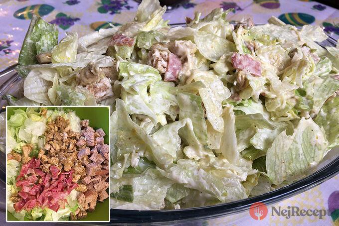Recept Cézar salát s kuřecím masem