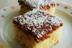 Příprava receptu Jednoduché kokosové kostky s čokoládou, krok 2