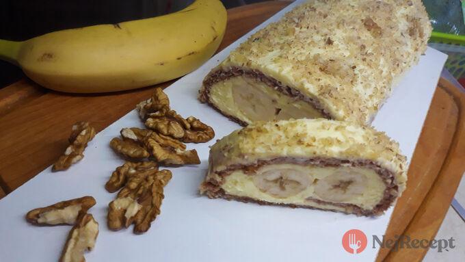 Recept Fantastická roláda Banana split bez gramu mouky