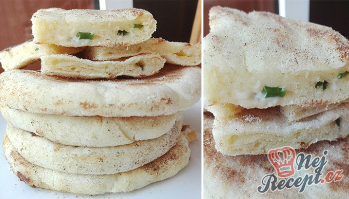 Recept Kefírové placky plněné sýrem a česnekem