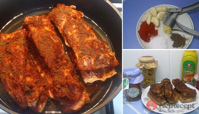 Recept Pečený bůček v česnekové marinádě