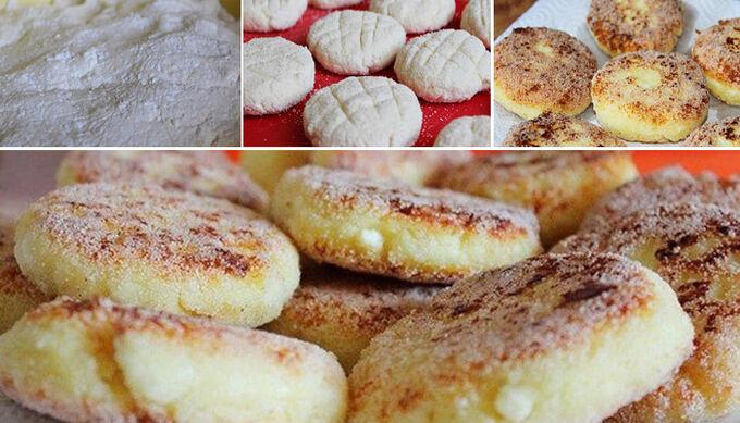 Recept Tvarohové koláčky s dětskou krupicí bez mouky