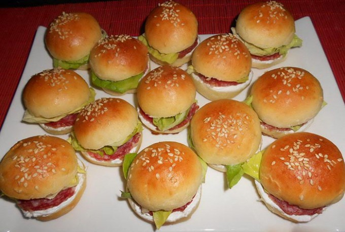 Recept Mini hamburgery