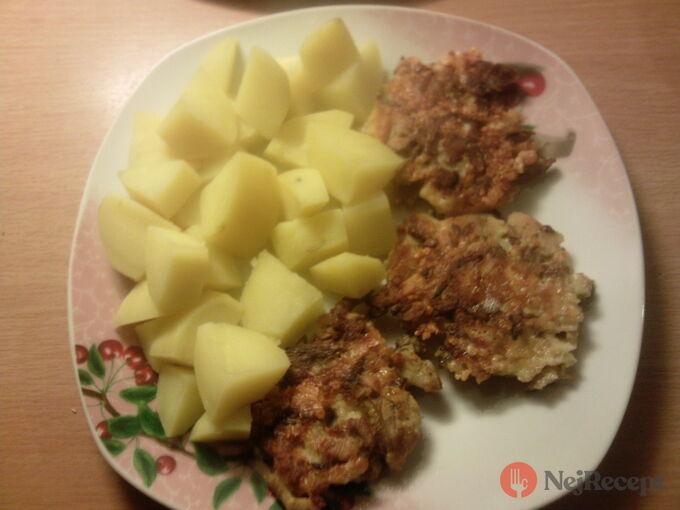 Recept Houbové placičky s vařenými brambory