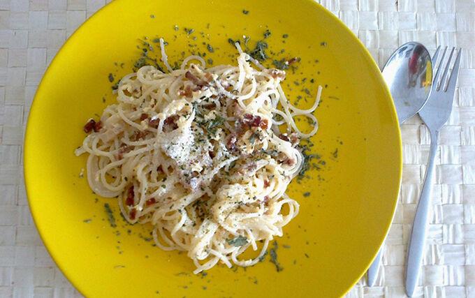 Recept Špagety carbonara