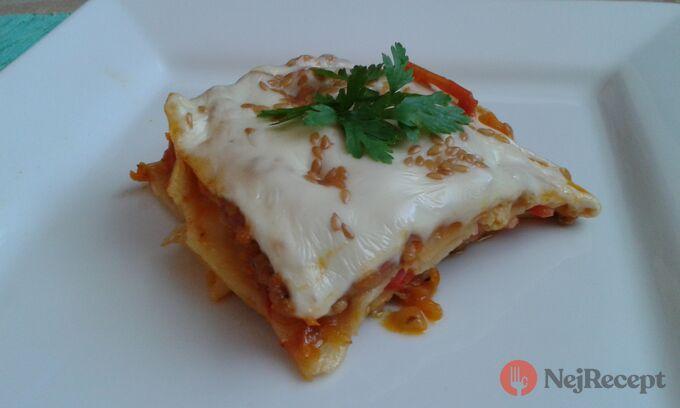 Recept Lasagne s mrkví a lněnými semínky