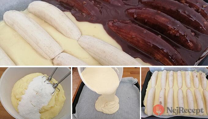 Recept Úžasné hrnkové řezy Banana Split