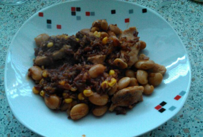 Recept Kuřecí stehna na paprice s fazolemi