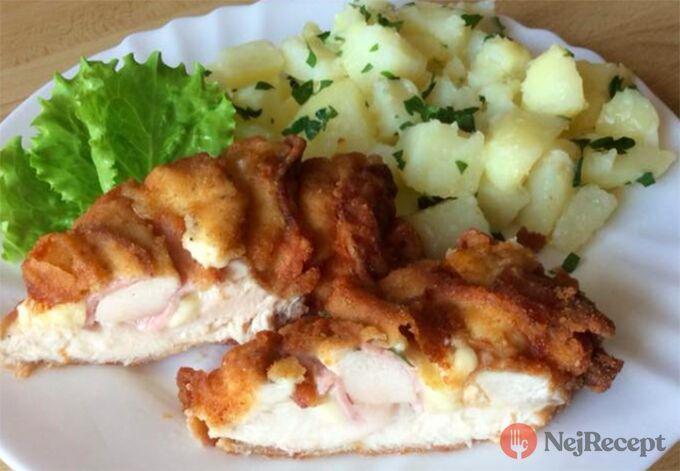 Recept Plněná i smažená kuřecí prsa