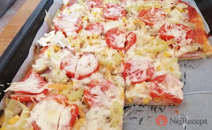 Recept Fantastická domácí pizza bez droždí (bez kynutí)