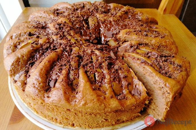 Recept Fantastický čokoládový dort s hruškami