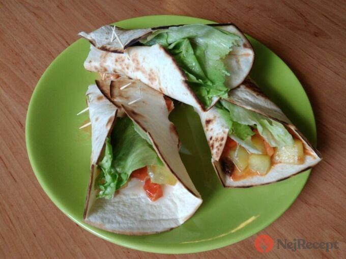Recept Vegetariánské tortilly
