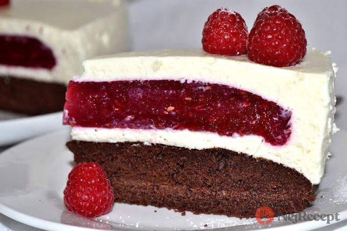 Recept Pohádkový malinový dort
