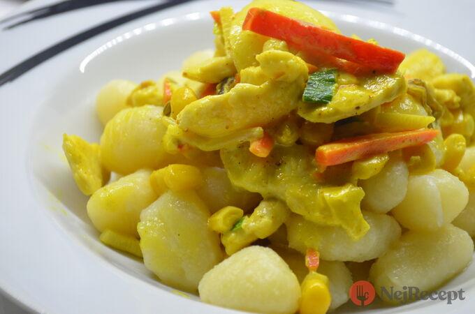 Recept Gnocchi s kuřecím masem a zeleninou