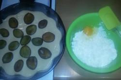 Příprava receptu Tvarohovo švestkový koláček bez kynutí, krok 5