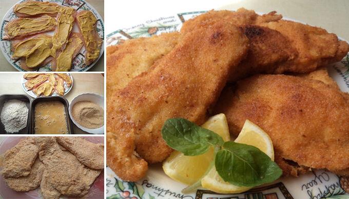 Recept Obalovaná kuřecí prsa s hořčicí