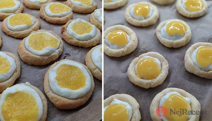 Recept Koláčky z taveného sýra plněné ricottou a mangovým pyré