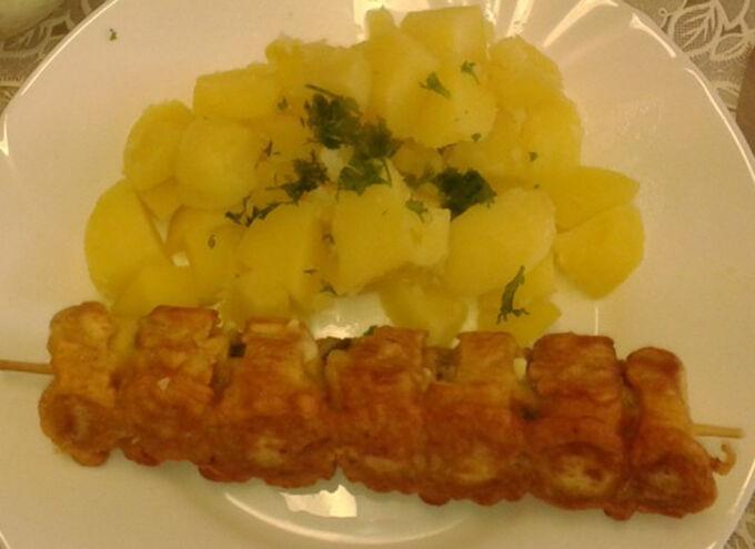 Recept Rohlíkový špíz s vařenými bramborami