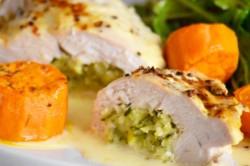 Příprava receptu Plněná kuřecí kapsa zapečená ve smetaně, krok 3