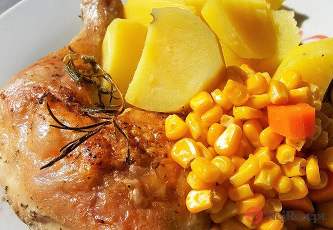 Recept Kuřecí stehna na rozmarýnu