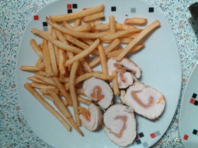 Recept Kuřecí závitky s mrkví a šunkou
