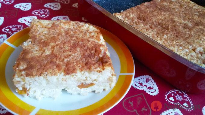 Recept Rýžový nákyp s meruňkami a tvarohem