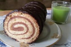 Příprava receptu Nejjednodušší čokoládová roláda, krok 10