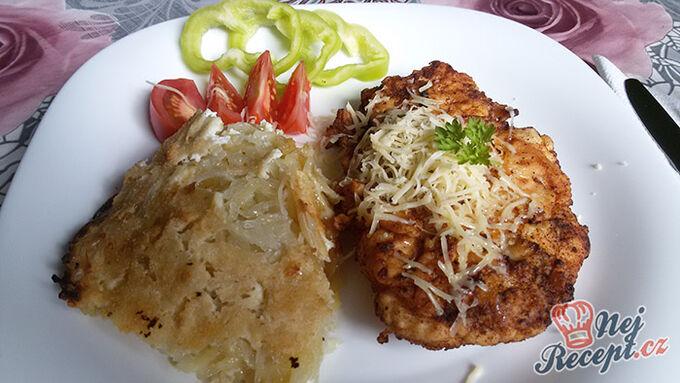 Recept Křehoučká kuřecí prsa s bramborovou přílohou