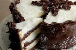 Příprava receptu Čokoládovo-kokosový dort, krok 1