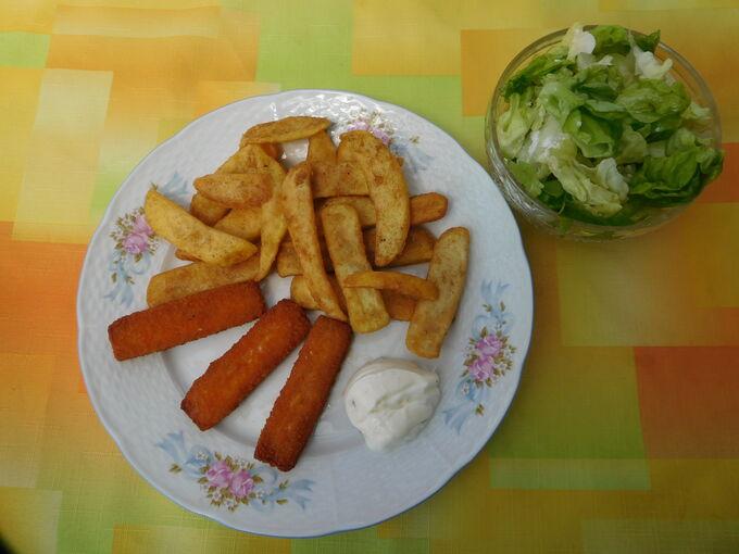 Recept Smažené rybí prsty a hranolky