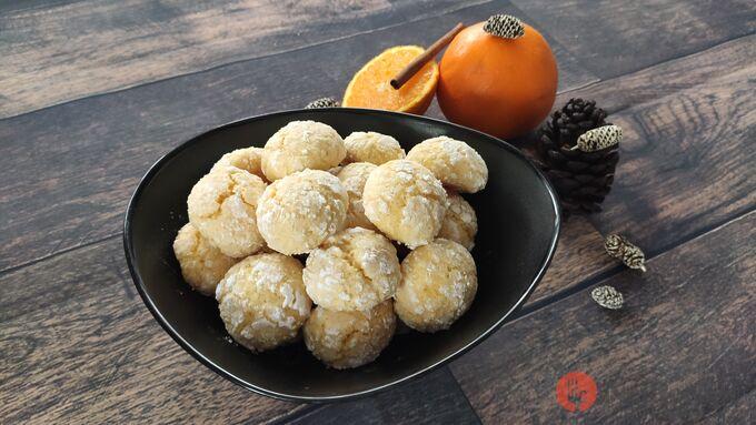 Recept Kokosovo-pomerančové crinkles sušenky