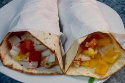 Příprava receptu Tortily plněné kuřecím masem a zeleninou, krok 7