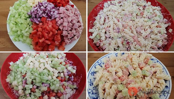 Recept Bombastický těstovinový salát se zakysanou smetanou