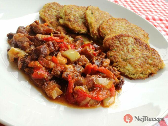 Recept Vepřová směs se zeleninou a bramboráčky