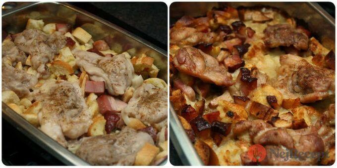 Recept Rozstřelené (rozlítané) kuře s nádivkou