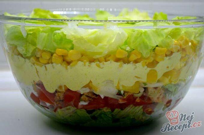 Recept Vrstvený Čína salát