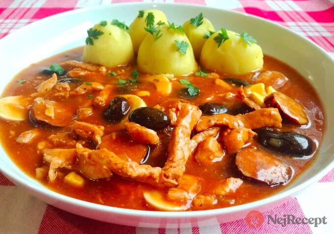 Recept Ostrý mexický guláš
