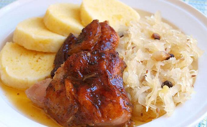 Recept Krůtí pečínka na másle a majoránce