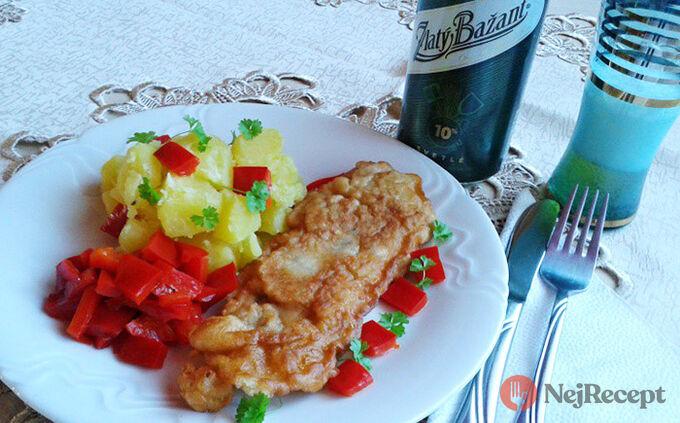 Recept Krůtí prsa v pivním těstíčku s droždím