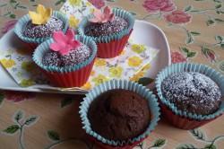 Příprava receptu Měkoučké muffinky jako pavučinka, krok 10