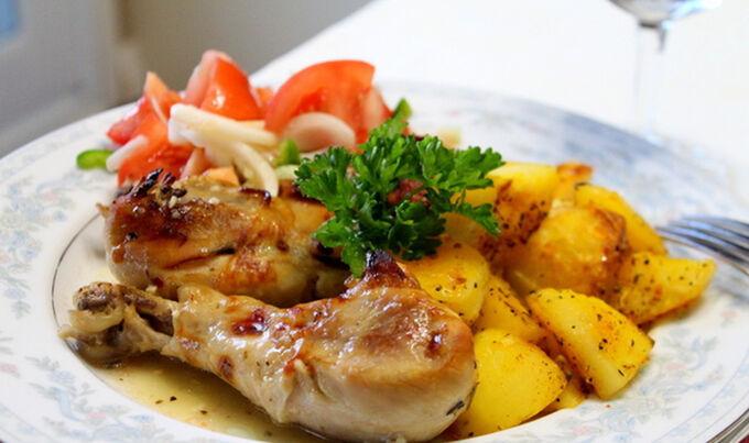 Recept Pečené kuře v řeckém stylu