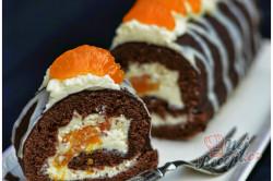 Příprava receptu Jednoduchá mandarinková roláda, krok 9