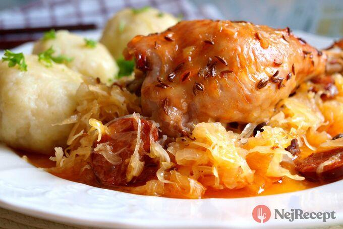 Recept Kuře na uherském zelí