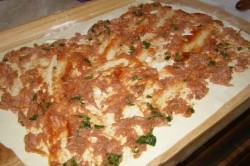Příprava receptu Tuňákem plnení šneci z listového těsta, krok 1