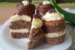 Příprava receptu Muffinky plněné vanilkovým krémem, krok 17